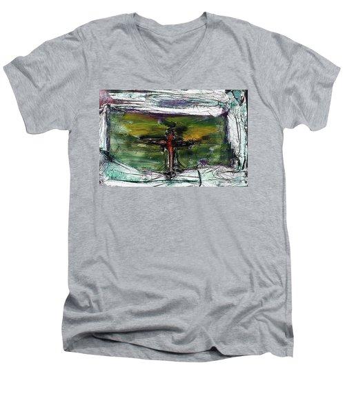 Crucifixion #3 Men's V-Neck T-Shirt