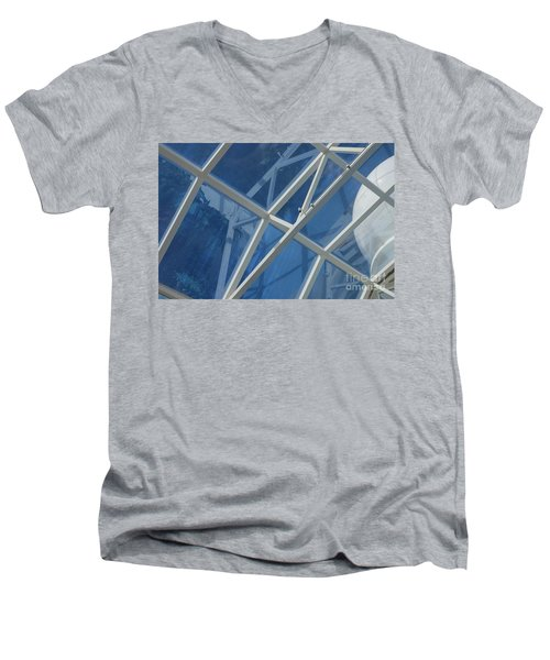 Cruise Ship Abstract Girders And Dome 2 Men's V-Neck T-Shirt