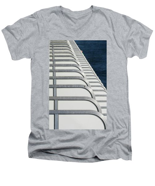 Cruise Ship's Balconies Men's V-Neck T-Shirt