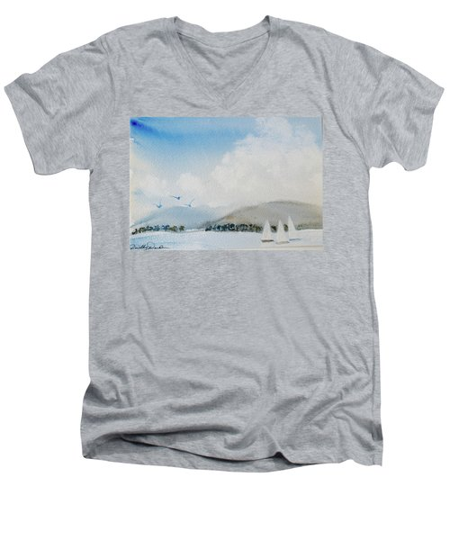 Cruising In Company Along The Tasmania Coast  Men's V-Neck T-Shirt