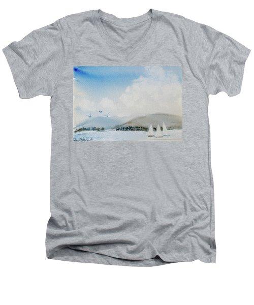 Cruising In Company Along The Tasmania Coast  Men's V-Neck T-Shirt