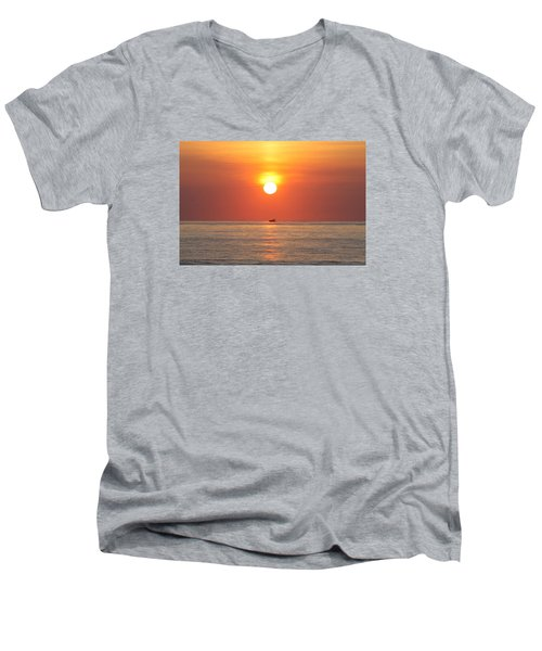 Men's V-Neck T-Shirt featuring the photograph Cruising On The Sunshine by Robert Banach