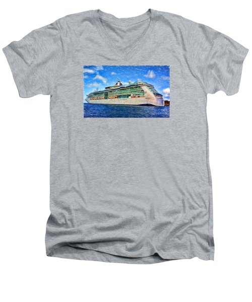 Cruising Thru Life Men's V-Neck T-Shirt by Sue Melvin