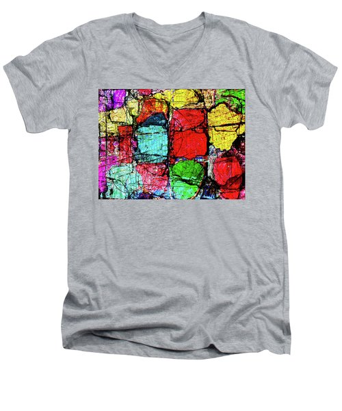 Crumbling Stone Wall Men's V-Neck T-Shirt