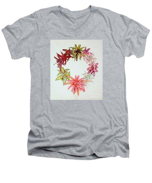 Cryptanthus Wreath Men's V-Neck T-Shirt