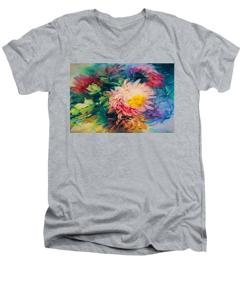 Chrysanthemums Men's V-Neck T-Shirt