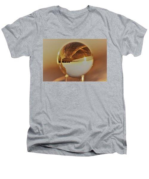 Crystal Beach Ball Men's V-Neck T-Shirt