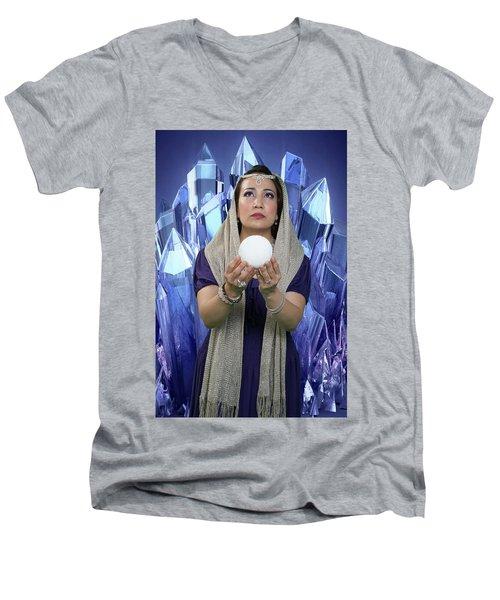 Crystal Goddess Men's V-Neck T-Shirt by David Clanton