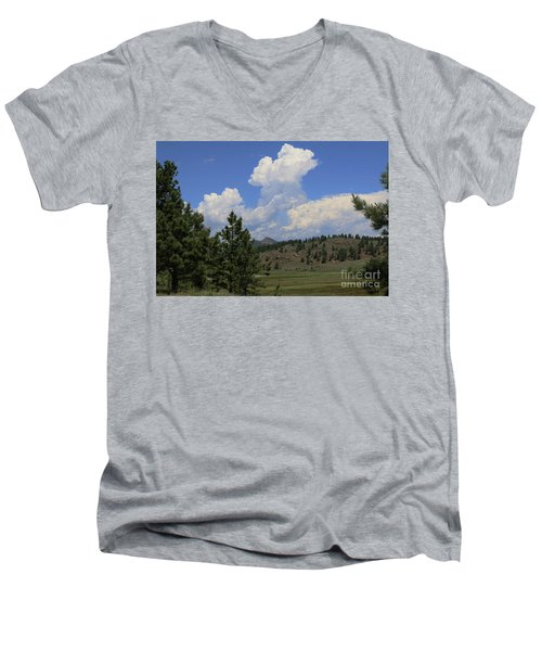 Crystal Peak Colorado Men's V-Neck T-Shirt by Jeanette French