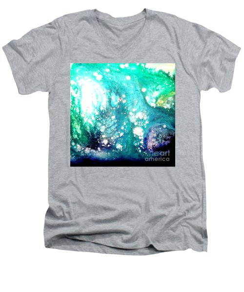 Crystal Wave7 Men's V-Neck T-Shirt