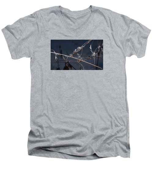 Men's V-Neck T-Shirt featuring the photograph Crystals by Annette Berglund