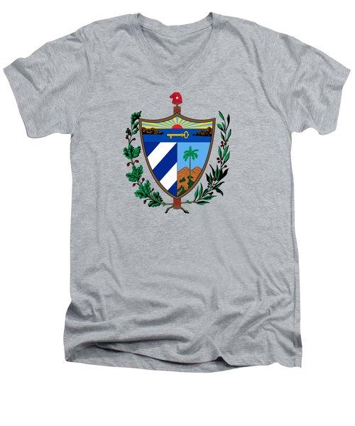 Cuba Coat Of Arms Men's V-Neck T-Shirt