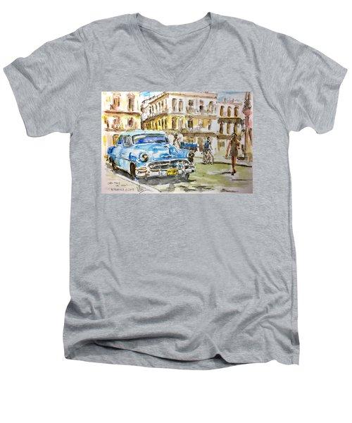 Cuba Today Or 1950 ? Men's V-Neck T-Shirt