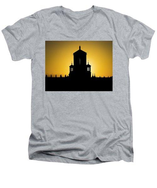 Cuban Landmark. Men's V-Neck T-Shirt