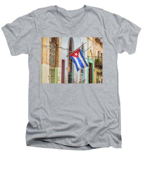 Cuban Pride Men's V-Neck T-Shirt