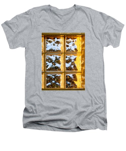 Men's V-Neck T-Shirt featuring the photograph Cubed Sunset by Christopher Holmes
