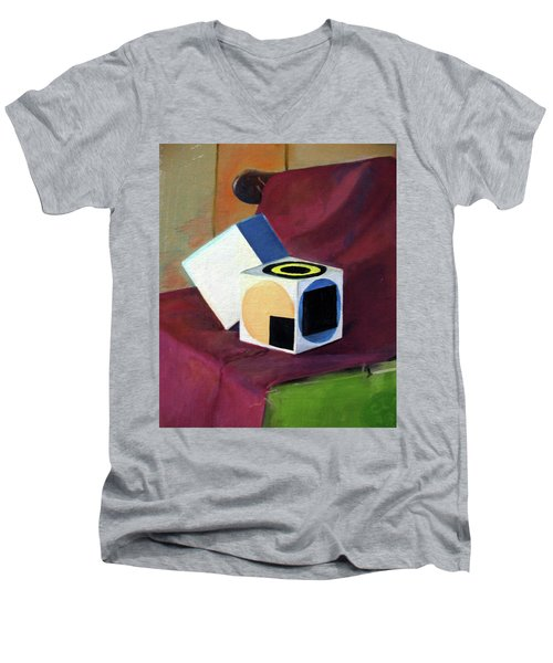 Cubes Men's V-Neck T-Shirt