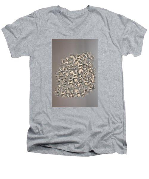 Men's V-Neck T-Shirt featuring the photograph Cubism by Angel Jesus De la Fuente