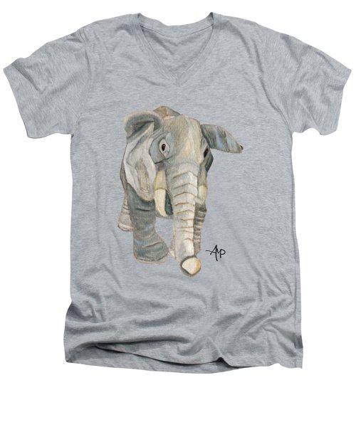 Cuddly Elephant Men's V-Neck T-Shirt