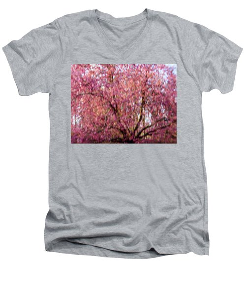 Columnar Sargent Cherry 2 Men's V-Neck T-Shirt
