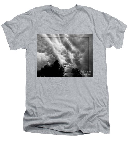 Cumulonimbus Clouds Over Cagliari Men's V-Neck T-Shirt