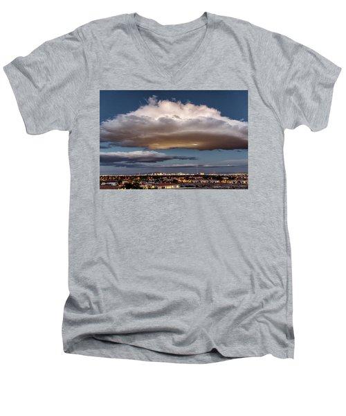 Men's V-Neck T-Shirt featuring the photograph Cumulus Las Vegas by Michael Rogers
