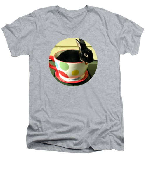 Cup O Bun T Shirt Men's V-Neck T-Shirt by Valerie Reeves
