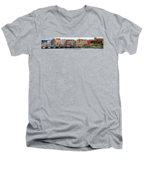 Curacao Willemstad Panorama Men's V-Neck T-Shirt