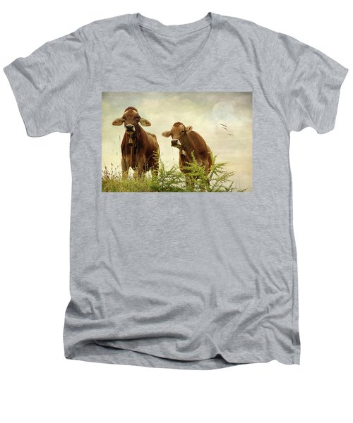 Curious Cows Men's V-Neck T-Shirt