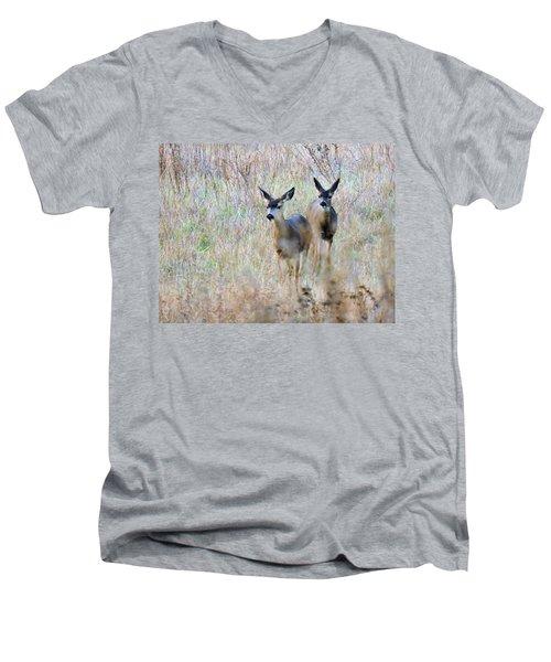 Curious Duo Men's V-Neck T-Shirt