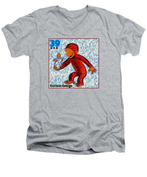 Curious George Men's V-Neck T-Shirt