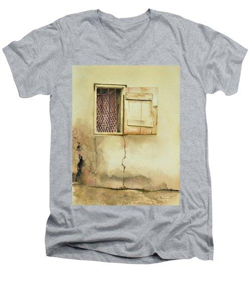 Curtain In Window Men's V-Neck T-Shirt
