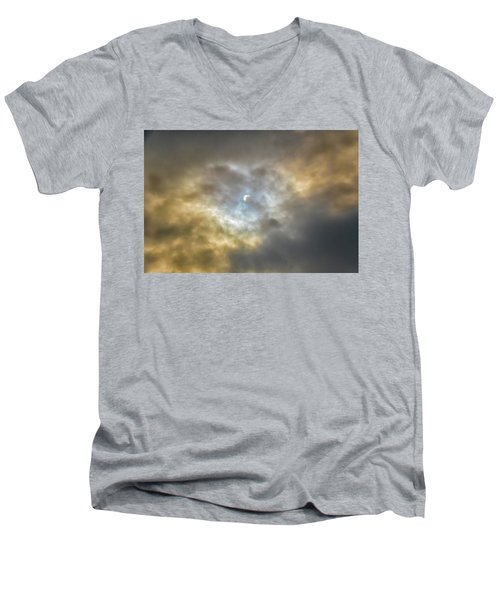 Curtain Of Clouds Eclipse Men's V-Neck T-Shirt