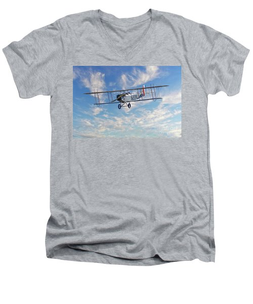Curtiss Jn-4h Biplane Men's V-Neck T-Shirt by Jerry Fornarotto