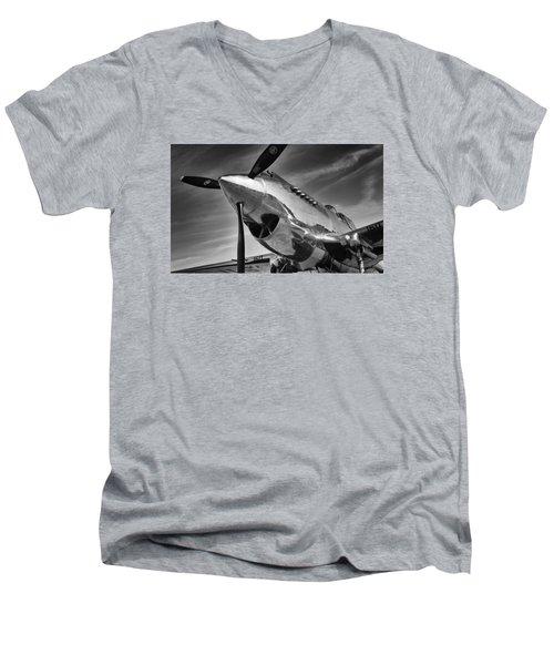 Curtiss P-40c Warhawk Men's V-Neck T-Shirt by Ian Merton