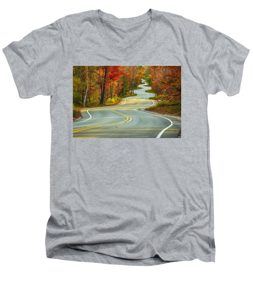 Curvaceous Men's V-Neck T-Shirt by Bill Pevlor