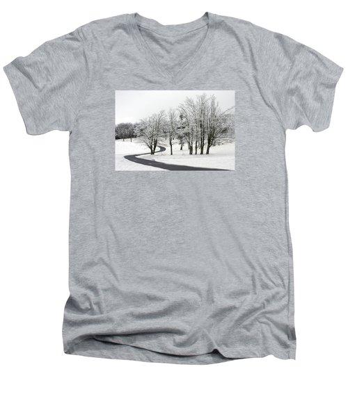 Mac Rae Field Curved Path Men's V-Neck T-Shirt