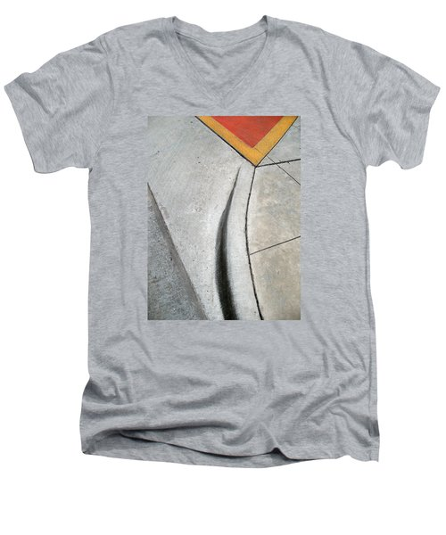 Red Triangle Men's V-Neck T-Shirt