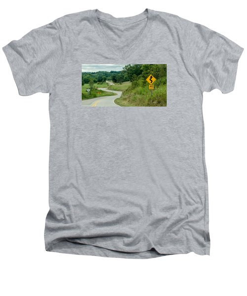 Men's V-Neck T-Shirt featuring the photograph Curves by Dan Traun