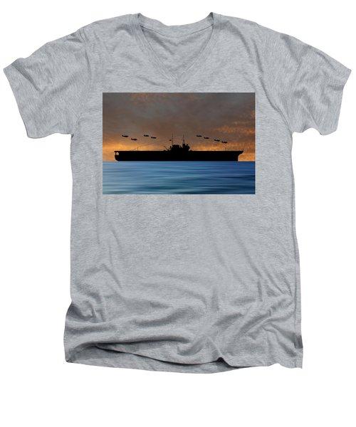 Cus Thomas Jefferson 1932 V3 Men's V-Neck T-Shirt