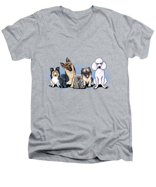 Custom Breed4ginnie Print Men's V-Neck T-Shirt
