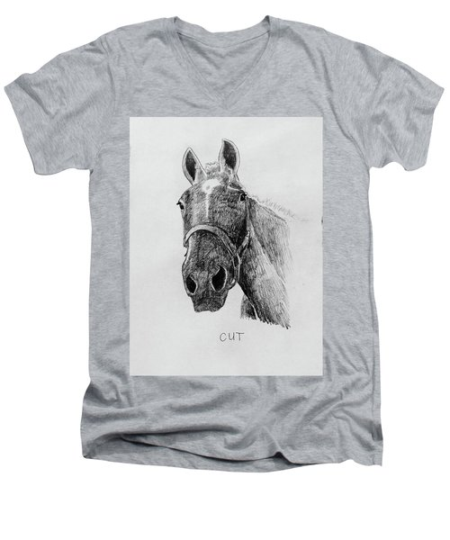 Cut The Horse Men's V-Neck T-Shirt