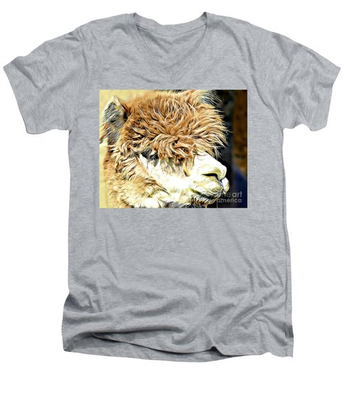 Soft And Shaggy Men's V-Neck T-Shirt by Kathy M Krause