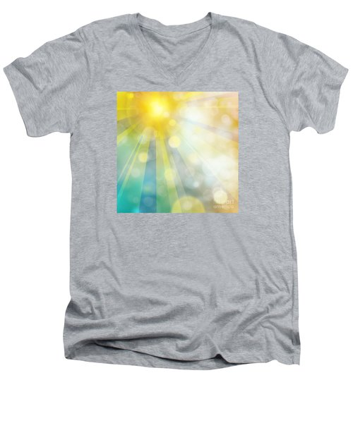 Cute Summer Men's V-Neck T-Shirt
