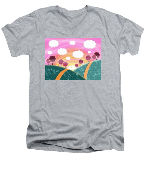Cuteness Overload Men's V-Neck T-Shirt by Shawna Rowe