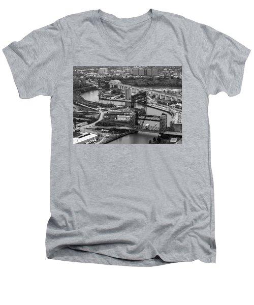 Cuyahoga River Men's V-Neck T-Shirt