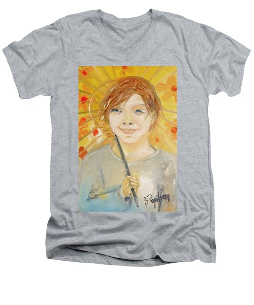 Cuz I'm Happy Men's V-Neck T-Shirt