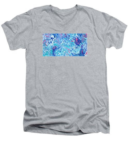 Men's V-Neck T-Shirt featuring the painting Cy Lantyca 24 by Cyryn Fyrcyd