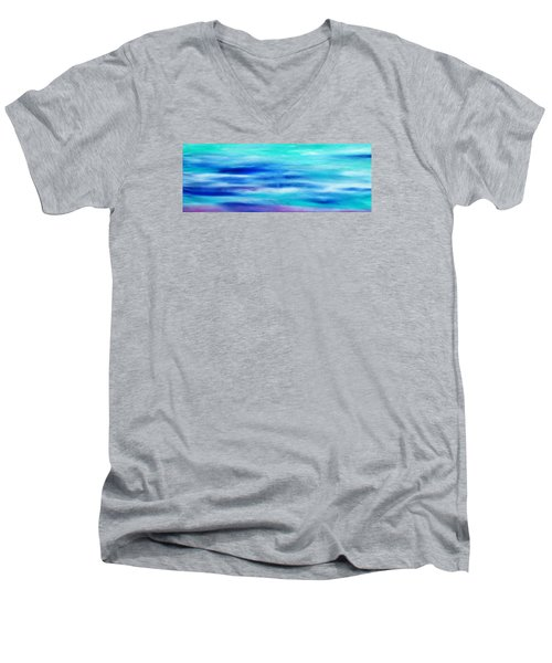 Men's V-Neck T-Shirt featuring the painting Cy Lantyca 28 by Cyryn Fyrcyd
