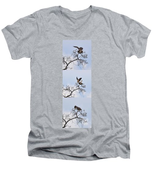 Men's V-Neck T-Shirt featuring the photograph Cycle Of Life-view  Whole Screen by Debby Pueschel